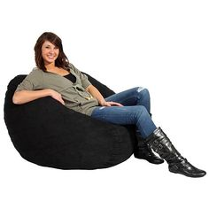Settle down in this large bean bag chair to watch TV, read a book, or chill with friends and enjoy a fun seating option that's more comfy than a couch or stiff-backed chair. The filling is made of durable memory foam, so it won't flatten out over time.