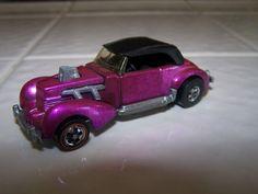 "Hot Wheels 1970 ""Custom Cord"" painted Strange Shade of Purple"
