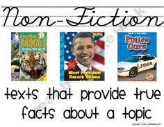 Genre Posters for your Classroom Library Non-fiction poster Stars Classroom, Classroom Posters, Classroom Ideas, Classroom Resources, Library Lesson Plans, Library Lessons, Library Ideas, Teaching Genre, Teaching Ideas