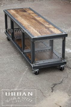 Copley urban industrial coffee table - ** Please note: due to the abnormally high order volume, the current lead time for all Furniture It - Welded Furniture, Industrial Design Furniture, Vintage Industrial Furniture, Industrial Table, Steel Furniture, Industrial House, Unique Furniture, Rustic Furniture, Furniture Ideas