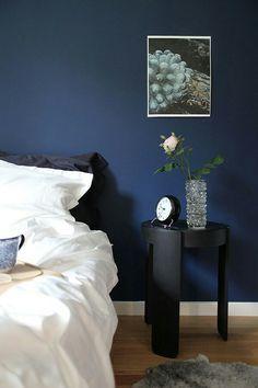 Blått sovrum | Blue bedroom - hemtrender.com