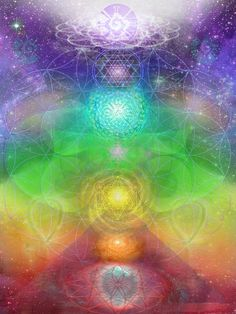 Chakra Journey Art by Jahsah #chakra #yoga #art - Fine Art Prints and Cards available here: http://fineartamerica.com/featured/chakra-journey-2012-jahsah-ananda.html Starting at $4.94
