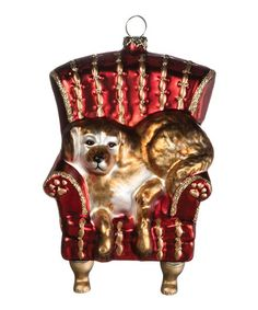 Red Chair Dog Ornament | zulily