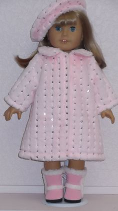 American Girl Doll Clothes Pink Sequin Fur Coat by susiestitchit, $21.50