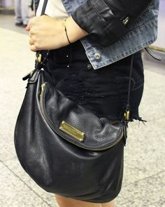 Street Fashion: Marc by Marc Jacobs bag. #streetstyle
