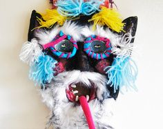 Traditional Romanian Mask from the upper part of Transylvania /// Maramures mask /// Charm // Amulete