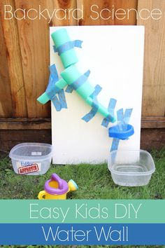 Easy Kids DIY Water Wall #summer #waterwall #DIY #kids #backyardscience