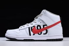 3a758092b1 Undefeated x Nike Dunk Lux High White/Black-Infrared 826668-160. Jordan  Shoes ...