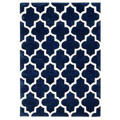 Brook Lane Rugs Arabesque Hand-Tufted Blue Area Rug & Reviews | Wayfair UK