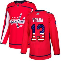 Adidas Capitals Evgeny Kuznetsov Red Home Authentic USA Flag Stitched Youth  NHL Jersey e13b1f303