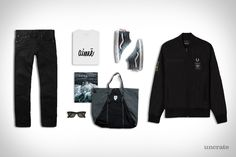 Aimé Leon Dore Script Tee ($65). Fred Perry Art Comes First Jacket ($225). RRL Selvedge Denim ($300). Vans Sk8-Hi Zip DX Shoes ($110). Epperson Mountaineering Tote ($110). Ambrosia Magazine - Volume 1 ($20). Ray-Ban Classic Wayfarer ($200)....