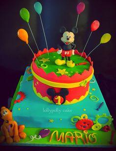 Topolino Birthday Cake, Disney, Desserts, Food, Tailgate Desserts, Birthday Cakes, Deserts, Meals, Dessert