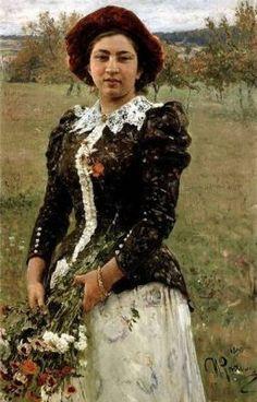 #wattpad #short-story Cuento corto 1913 de Guillermo Díaz-Caneja Portada:  Autumn Bouquet. por Ilya Repin · 1892
