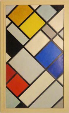'Contra-compositie XVI' door Theo van Doesburg uit 1925.