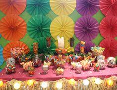 Luau Hawaiian Tropical candy buffet bar