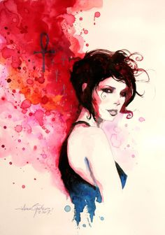 Another beautiful Death watercolor by Javier Pacheco.