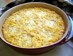 Simple Scalloped Corn Recipe from RecipeTips.com!       I add a little onion in it about a 1/4 to 1/2 cup