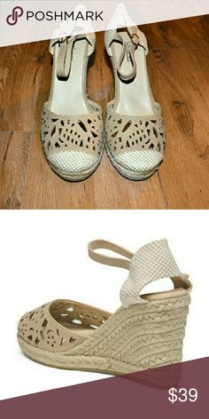 Catherine Malandrino Eyelet Espadrilles Wedges NWT and box **Available in both black and Nude in size 9  **kindly comment which color you are interested with if ordering Catherine Malandrino Shoes Espadrilles