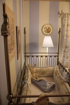 Another Peter Rabbit nursery. Look at the crib!