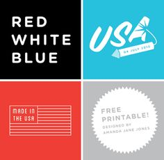 Free printables designed by Amanda Jane Jones.