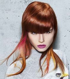 Hairstyles trends for fall-winter 2013-2014, Schwarzkopf the long thin hair Schwarzkopf