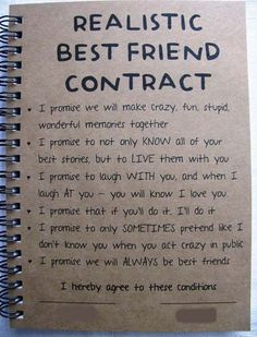 ReALiStiC Best Friend Contract Birthday GiftsGifts