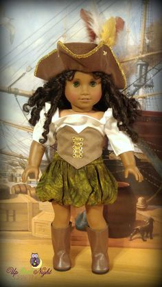 "Complete American Made Pirate Outfit for Your 18"" Girl Doll"