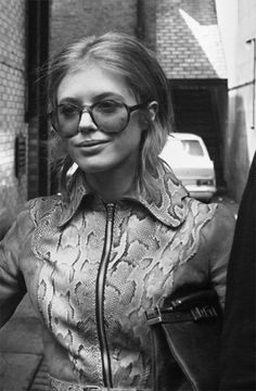 Marianne Faithfull in Ossie Clark Snakeskin Jacket, ca. 1970