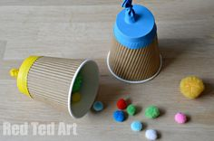 Fun Party Poppers - they really do POP and are nice and safe. Only take 5 minutes to make (ours were upcycled too). Great for 4th July or New Year's Eve or just a party or rainy day!!!
