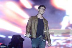 Morten Harket of A-ha performs during day 7 of Rock in Rio on September 27, 2015 in Rio de Janeiro, Brazil.