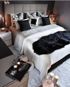 Imagem de bedroom, home, and black