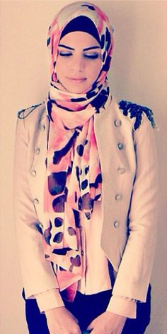 Nice scarf and jacket.