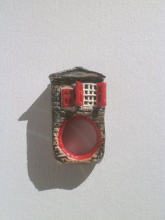 Old house miniature polymer clay ring by Lijoux