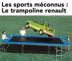 Deportes desconocidos: ¡la cama elástica renault super 5!