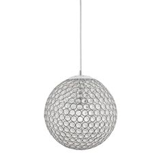 Kichler Krystal Ice Chrome Traditional Crystal Globe Pendant Light at Lowe's. Add this beautiful pendant from the Krystal Ice collection to your room for a dramatic statement and attractive look. The cut glass bead shade refracts Crystal Pendant Lighting, Globe Pendant Light, Pendant Lights, Cut Glass, Clear Glass, Glass Beads, Light Bulb Bases, Globe Lights, Krystal