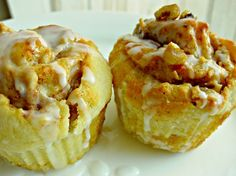 Apple Cinnamon Walnut Roll Muffins - Christmas morning