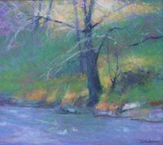 """Melt water"" by pastel artist Doug Dawson using Great American Pastels"