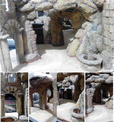 Diorama viaje de los reyes magos- Técnica de espejos - version 2 Reyes, Diorama, Mount Rushmore, Mountains, Nature, Painting, Art, Nativity Sets, Wizards