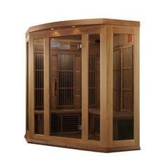 Dynamic Infrared Luxury Series 2 Person FAR Infrared Sauna & Reviews   Wayfair Traditional Saunas, Red Cedar Wood, Steam Sauna, Chromotherapy, Tempered Glass Door, Golden Design, Infrared Sauna, Thing 1