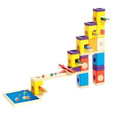 Music Motion by Hape Toys. Music Motion turns up the volume on classic Quadrilla marble runs by combining strategically-placed musical chimes with wooden rails and blocks. Quadrilla Marble Run Wooden Marble Run, Marble Runs, Hape Toys, Stacking Blocks, Buy Music, Wood Toys, Building Toys, Holiday Gifts, Christmas Gifts