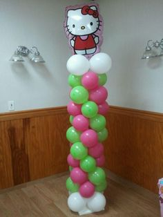 Hello Kitty balloon column