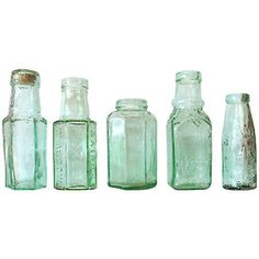 Glass bottles. Vintage, new. No matter. So beautiful.