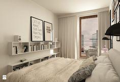 SKANDYNAWIA NA ŻOLIBORZU - Średnia sypialnia małżeńska z balkonem / tarasem, styl skandynawski - zdjęcie od design me too