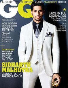 Sidharth Malhotra para GQ India Febrero 2014 | Male Fashion Trends
