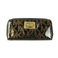 626419a291d6 Michael Michael Kors New Black Jet Set Zip Around Wallet 0S  Bag  Michael   Kors