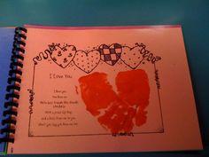 Handprint Calendar Ideas | February art. Paint both hands red and overlap to create a heart.