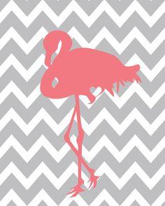 Chevron and Flamingos 😍 Foto Flamingo, Flamingo Art, Pink Flamingos, Flamingo Vector, Canson, Grey Chevron, Pink Grey, Ideias Diy, Pink Bird