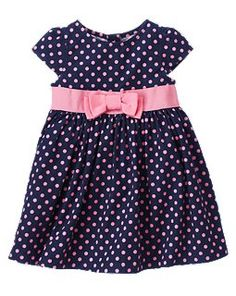 Polka Dot Corduroy Dress (matches the shoes) - Gymboree