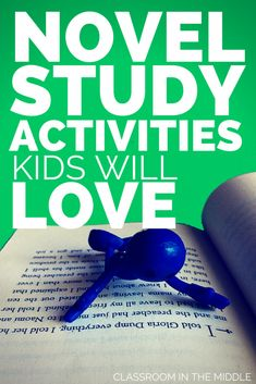 Novel Study Activities Kids Will Love. Guest post by Sharon Fabian from Classroom in the Middle. 6th Grade Reading, Middle School Reading, Teaching Literature, Teaching Reading, Teaching Ideas, Teaching Resources, Teaching Strategies, Children's Literature, Guided Reading