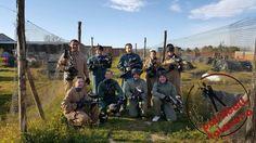 Amigos de Paintball Talavera, antes de la batalla. ¡Gente estupenda!